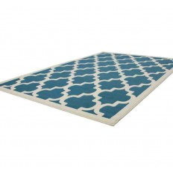 tappeto moderno geometrico manolya 2097 turchese