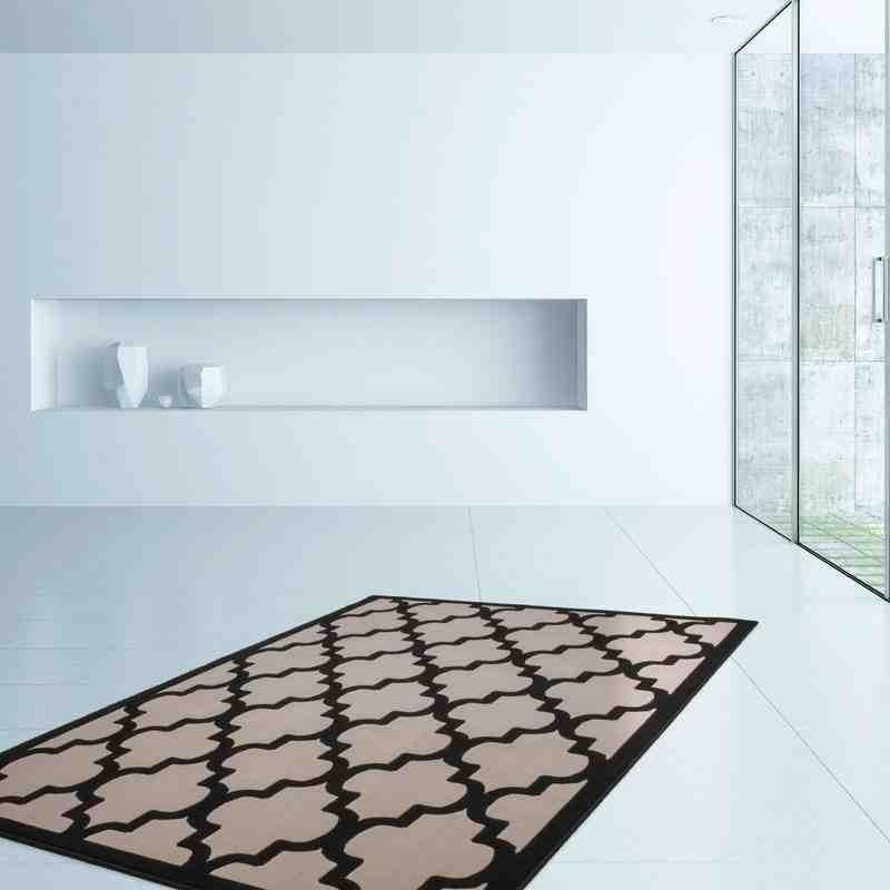 tappeto moderno geometrico marocc tortora-nero