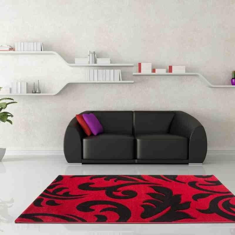 tappeto moderno floreale netherlands utrecht rosso