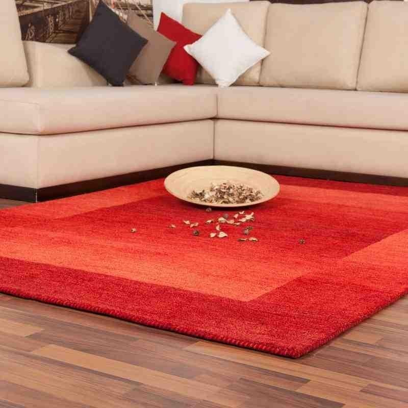 tappeto moderno geometrico new zealand wellington rosso lana