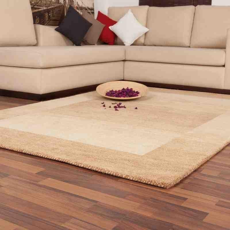 tappeto moderno geometrico new zealand wellington beige lana