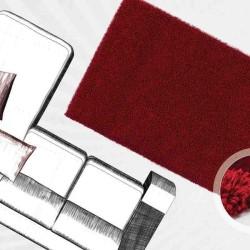 tappeto moderno tinta unita norway oslo rosso