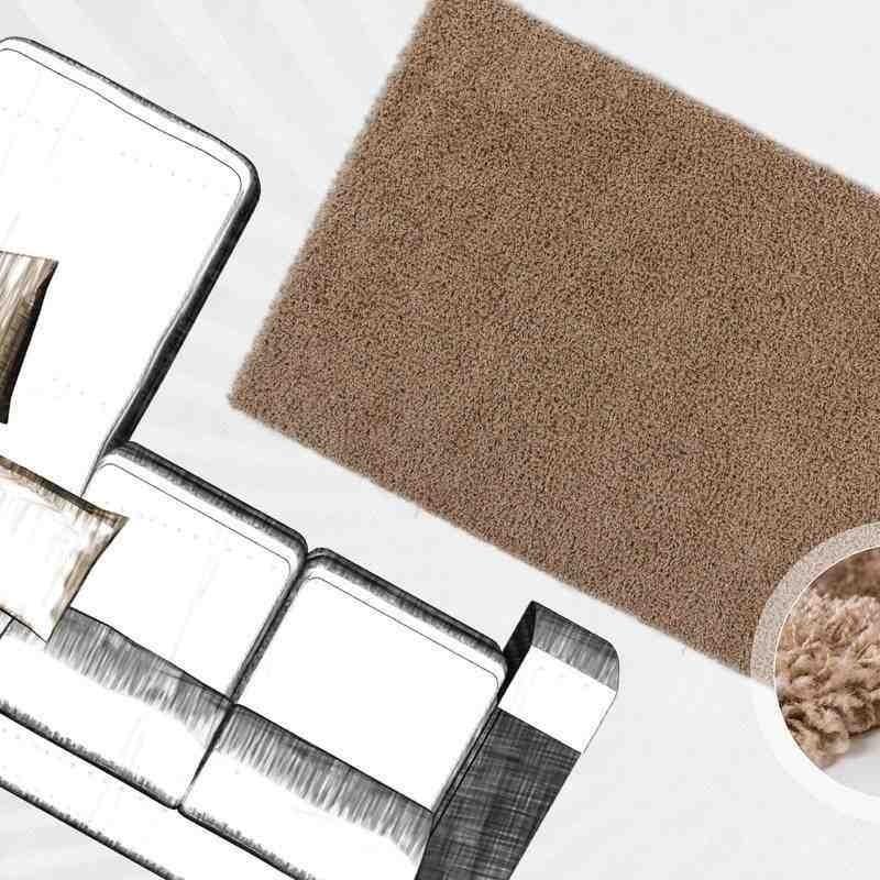 tappeto moderno tinta unita norway oslo chiaro marrone