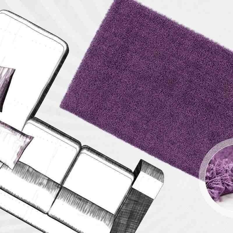tappeto moderno tinta unita norway oslo violetto