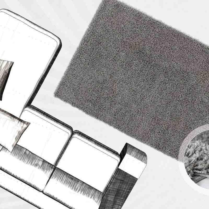 tappeto moderno tinta unita norway oslo argento