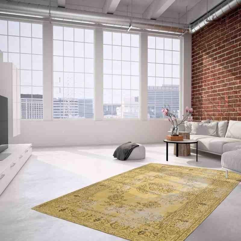 tappeto moderno vintage nostalgia 385 oro