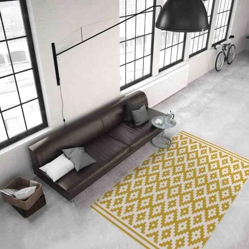 tappeto moderno geometrico now! 300 avorio-oro