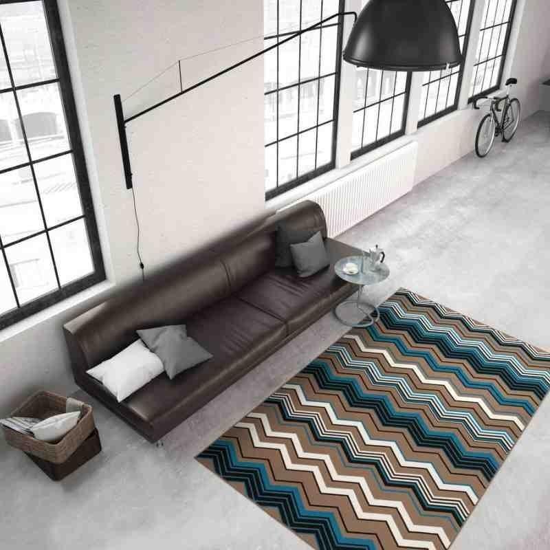 tappeto moderno geometrico now! 900 multi-marrone