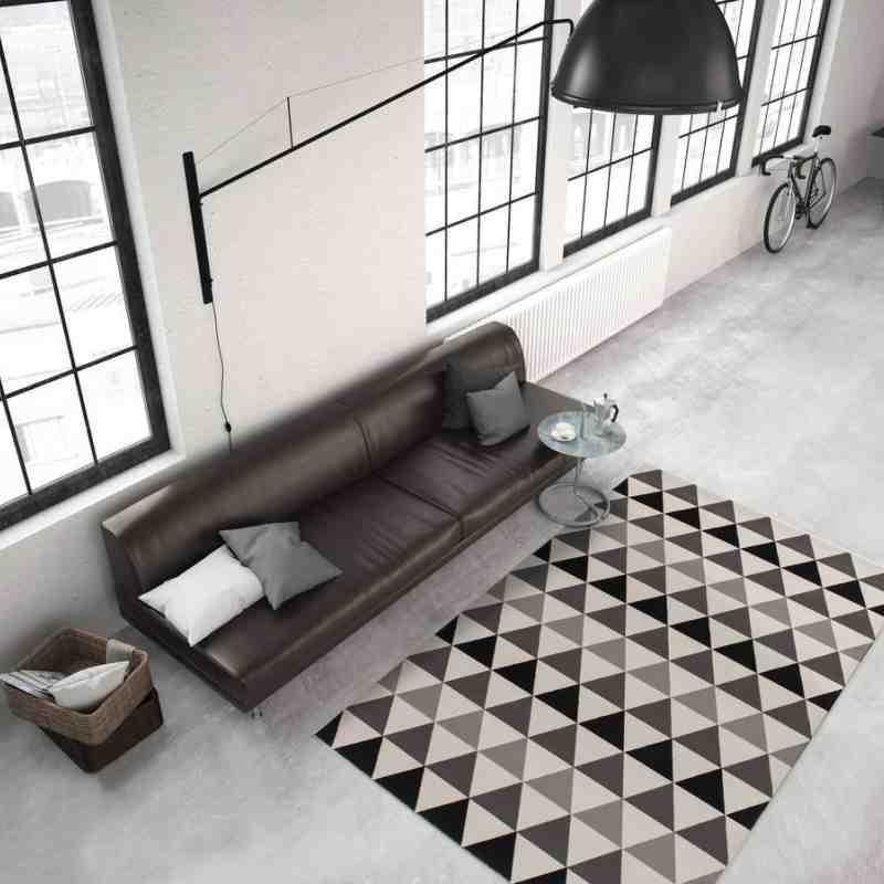 tappeto moderno geometrico now! 800 grigio