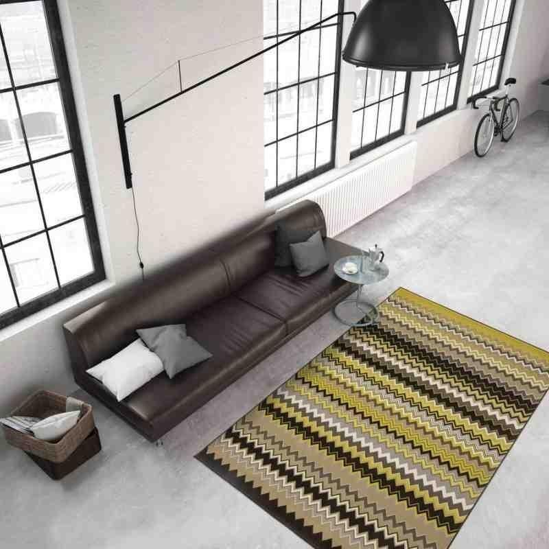 tappeto moderno geometrico now! 700 multi-oro