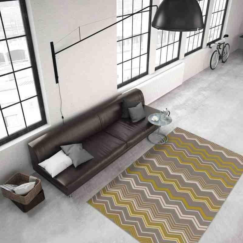 tappeto moderno geometrico now! 900 multi-oro