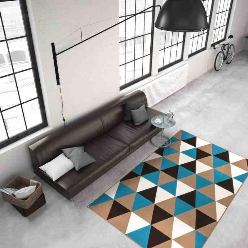 tappeto moderno geometrico now! 200 multi-turchese