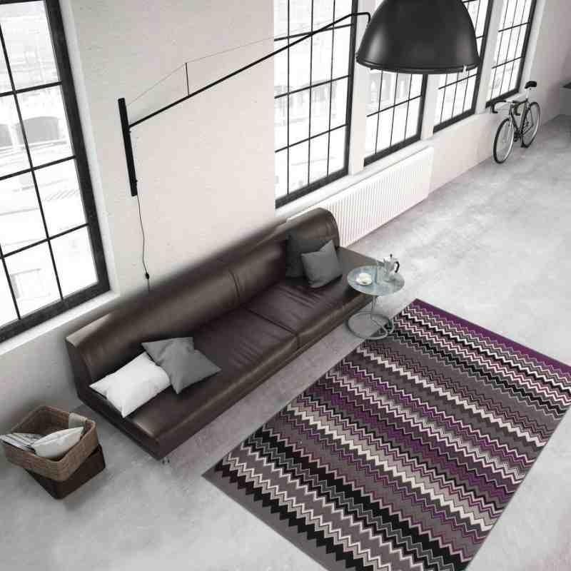 tappeto moderno geometrico now! 700 multi-violetto