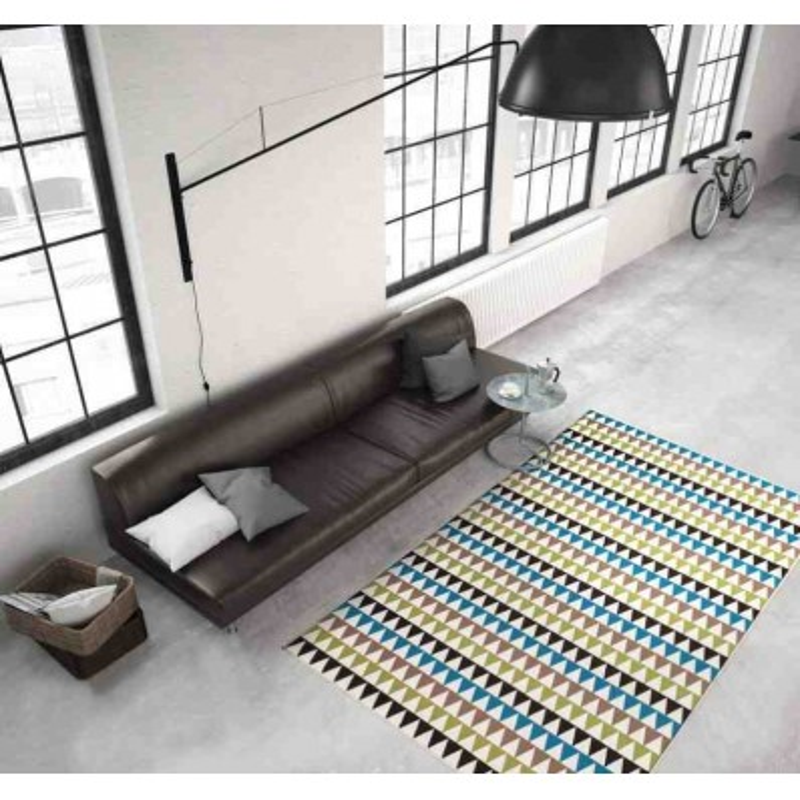 tappeto moderno geometrico now! 500 multi-verde