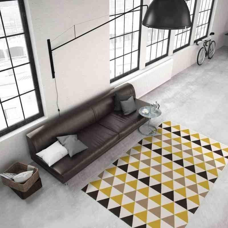 tappeto moderno geometrico now! 800 multi-oro
