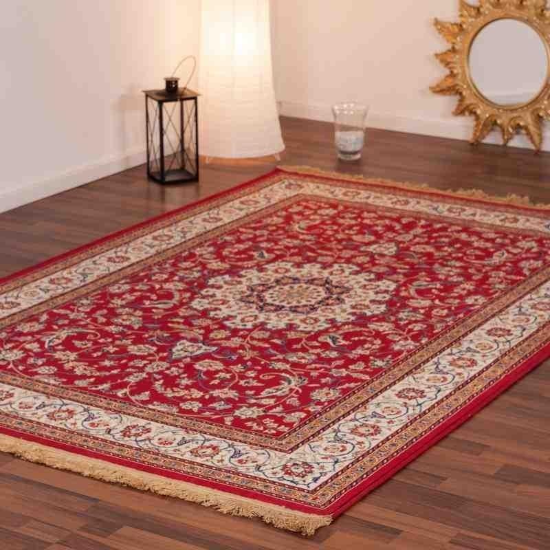 tappeto moderno classico qatar aspire rosso seta