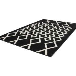 tappeto moderno geometrico replay nero