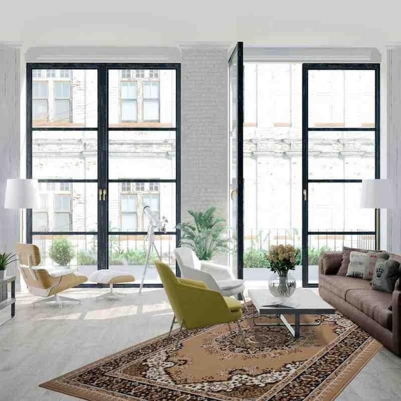 tappeto moderno classico rohullah 6010 beige