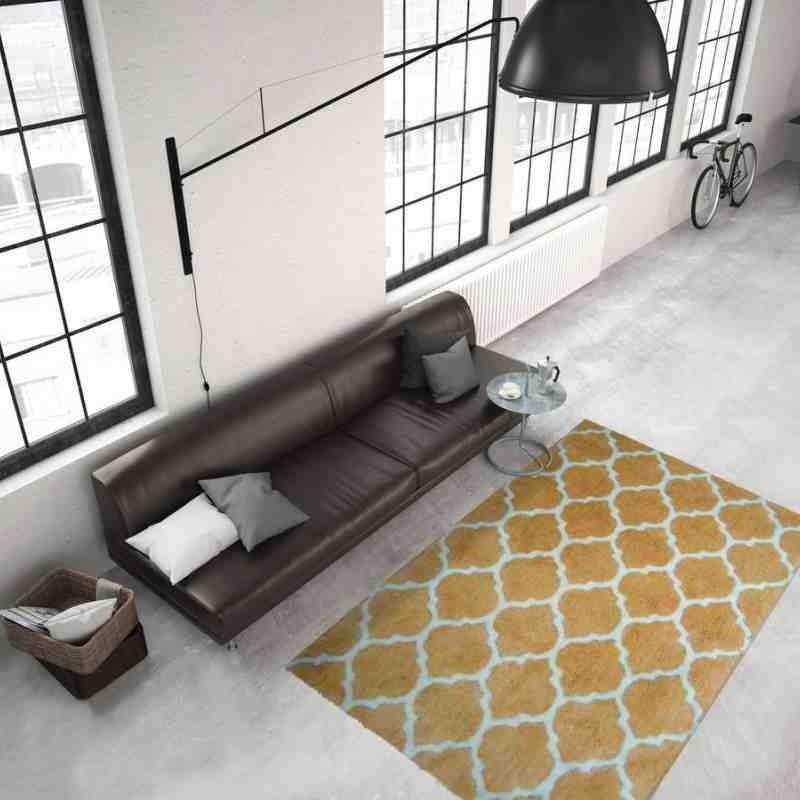 tappeto moderno geometrico smooth 250 giallo