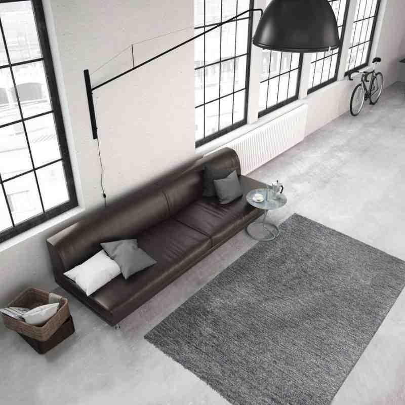 tappeto moderno tinta unita smooth 300 crema-malva
