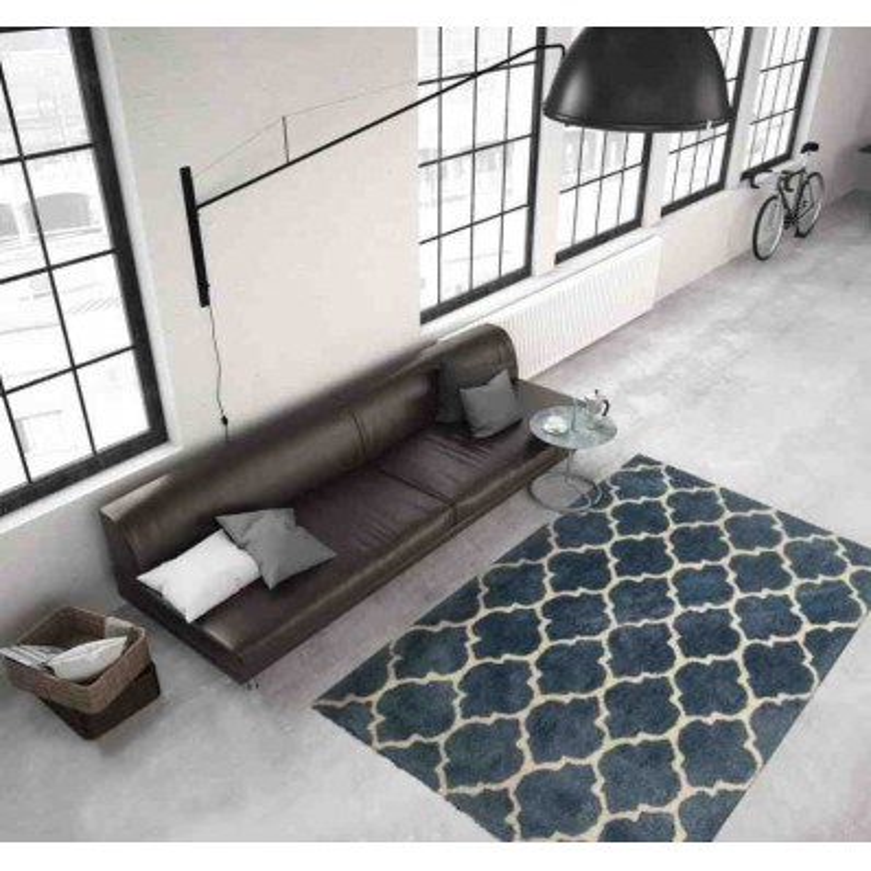 tappeto moderno geometrico smooth 250 blu