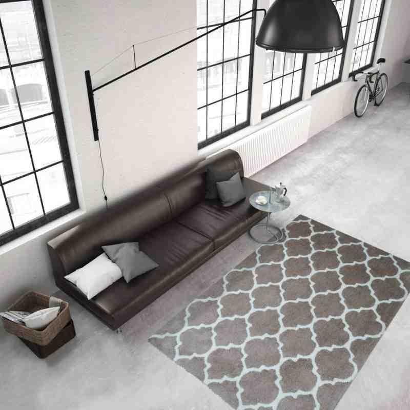 tappeto moderno geometrico smooth 250 tortora