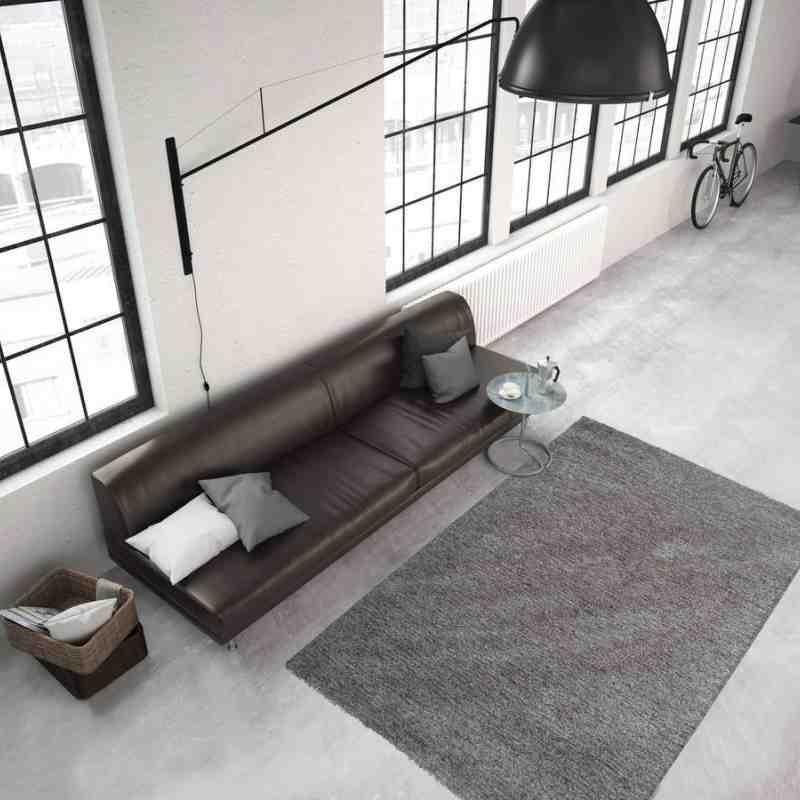 tappeto moderno tinta unita smooth 300 crema-tortora
