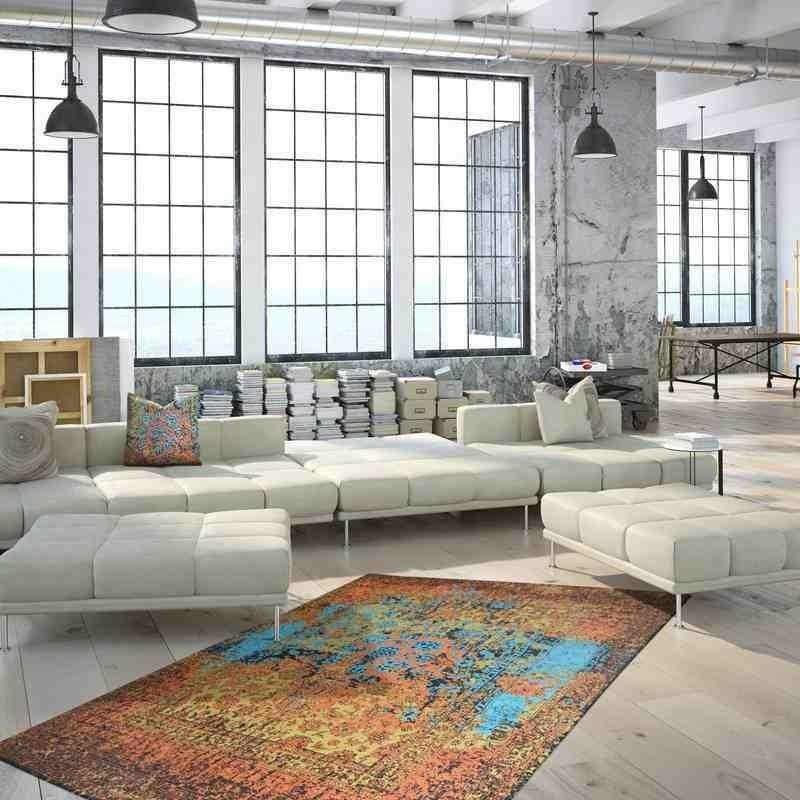 tappeto moderno vintage solitaire 610 multi
