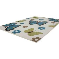 tappeto moderno bambini sona 2055 avorio-turchese