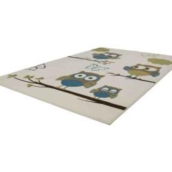 tappeto moderno bambini sona 2054 avorio-turchese