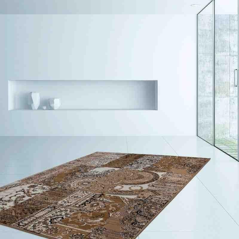 tappeto moderno patchwork sona 2096 crema