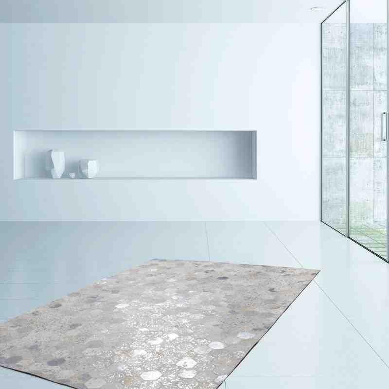 tappeto moderno tinta unita spark 210 grigio-argento