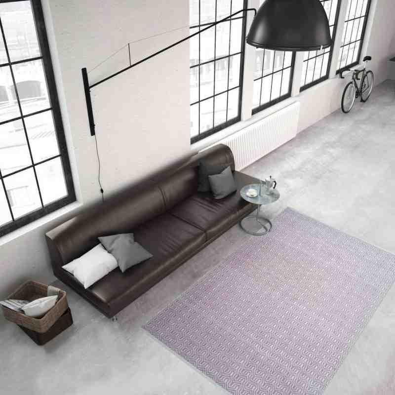 tappeto moderno tinta unita spring 200 rosa-avorio