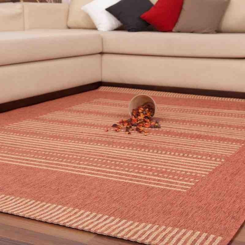 tappeto moderno geometrico sweden stockholm arancio-mais