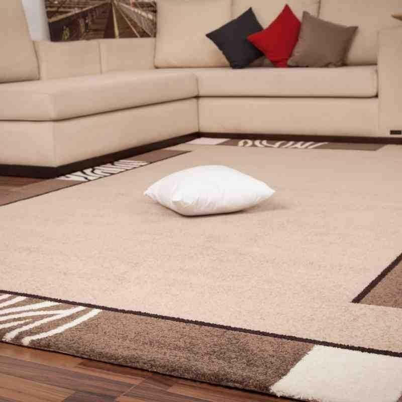 tappeto moderno tinta unita switzerland bern caramello