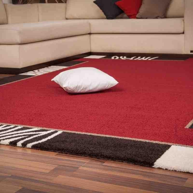 tappeto moderno tinta unita switzerland bern rosso