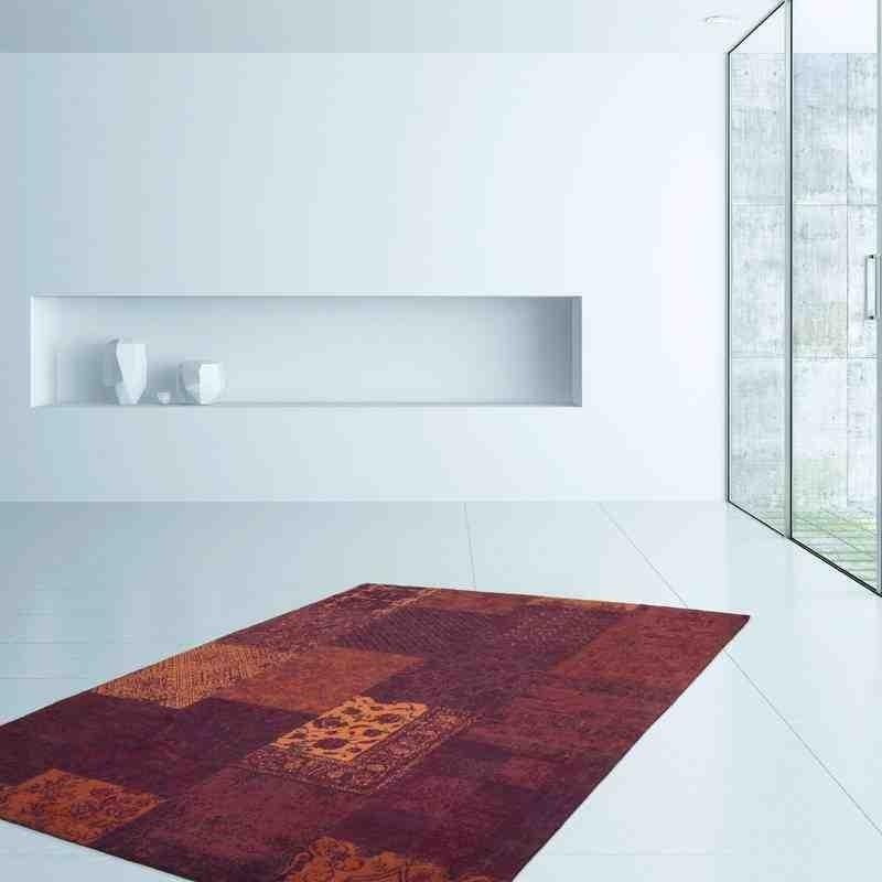 tappeto moderno patchwork symphony 160 rosso