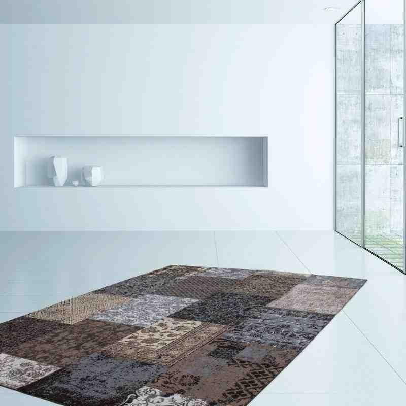 tappeto moderno patchwork symphony 160 marrone
