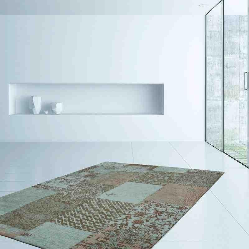 tappeto moderno patchwork symphony 160 turchese
