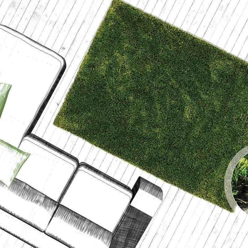 tappeto moderno tinta unita tanzania sansibar verde
