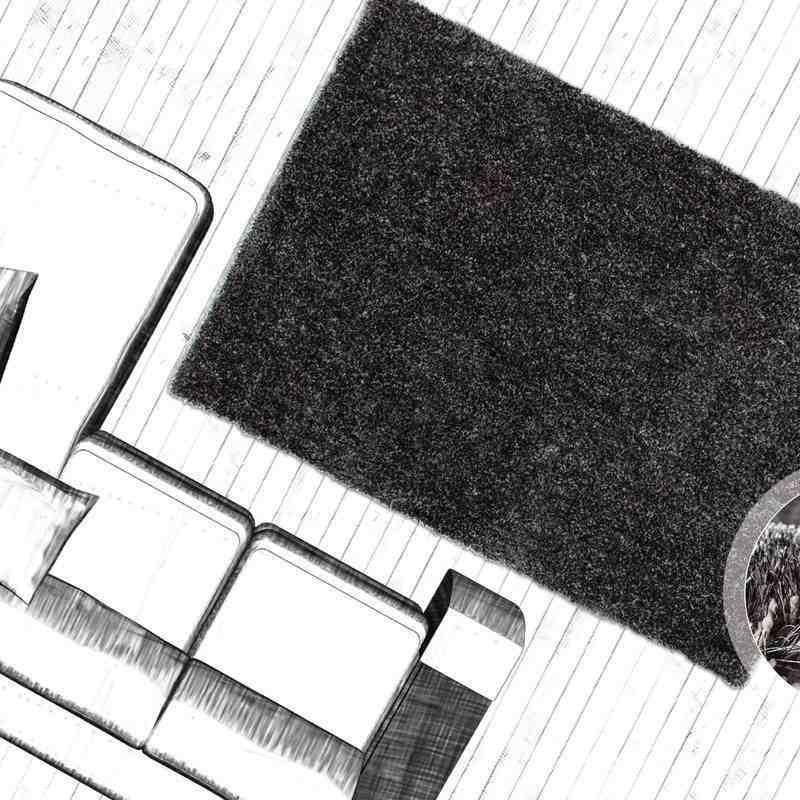 tappeto moderno tinta unita tanzania sansibar antracite