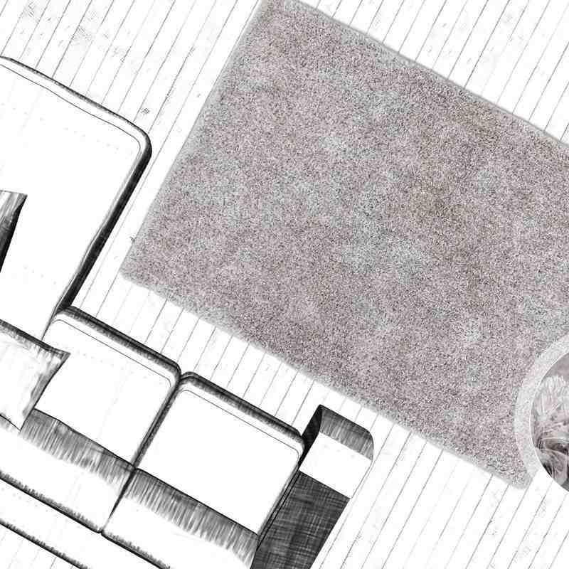 tappeto moderno tinta unita tanzania sansibar argento-bianco