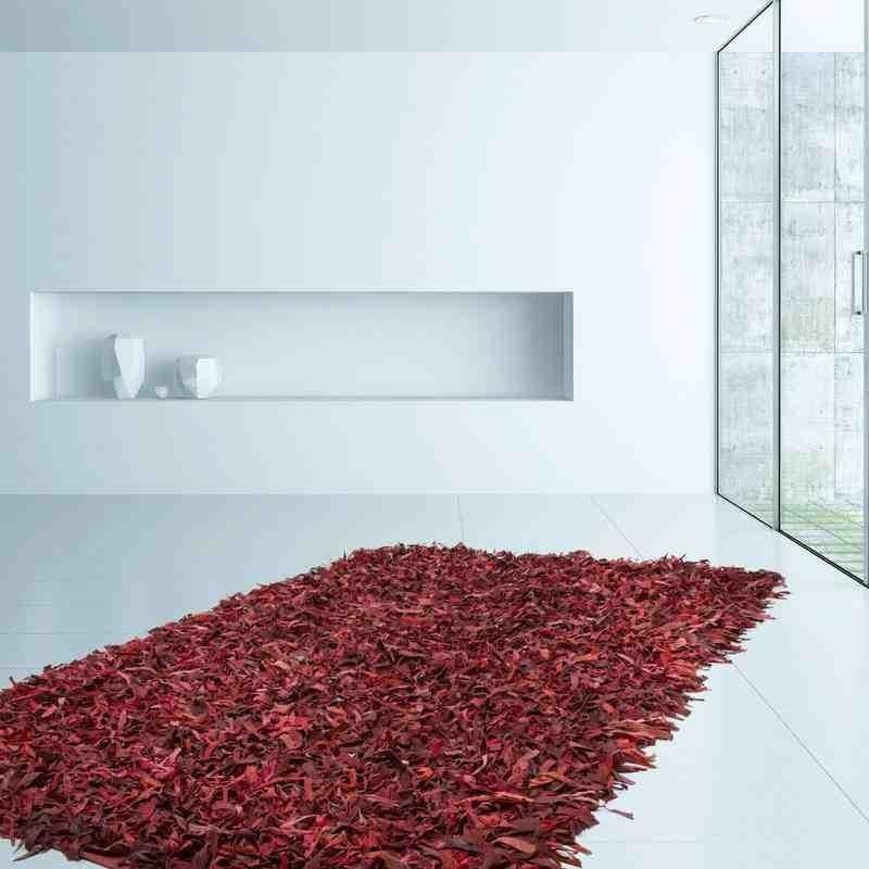 tappeto moderno tinta unita terence 310 rosso