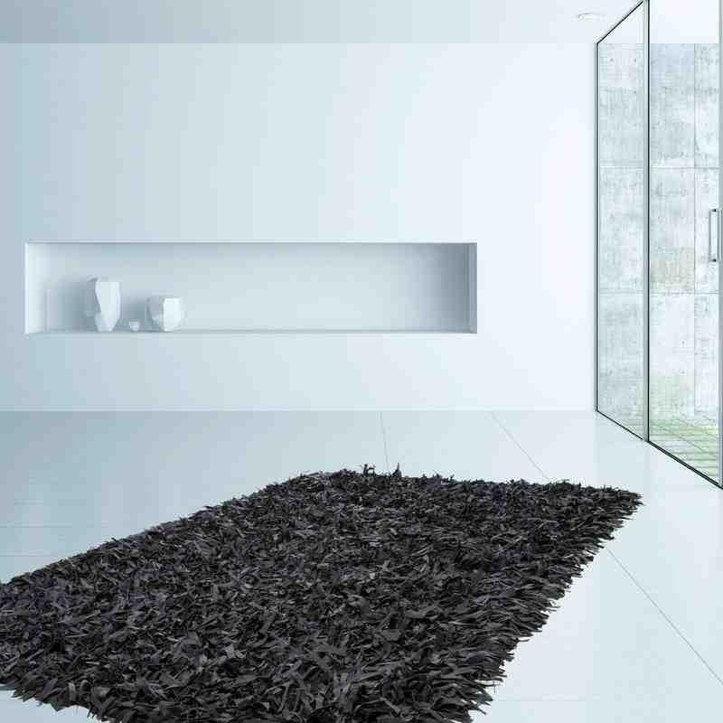 tappeto moderno tinta unita terence 310 nero
