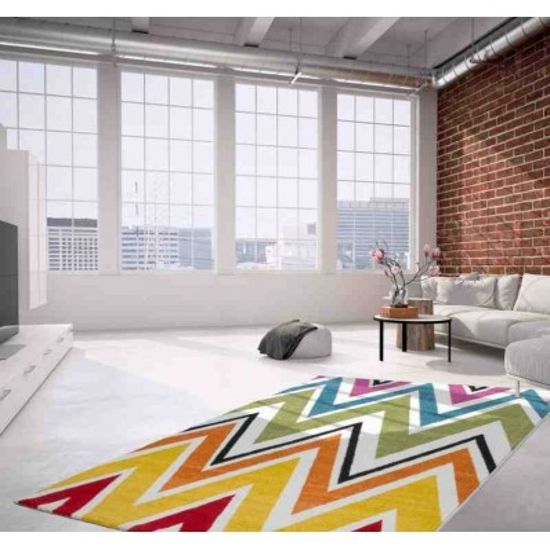 tappeto moderno geometrico thailand chiang rai arcobaleno