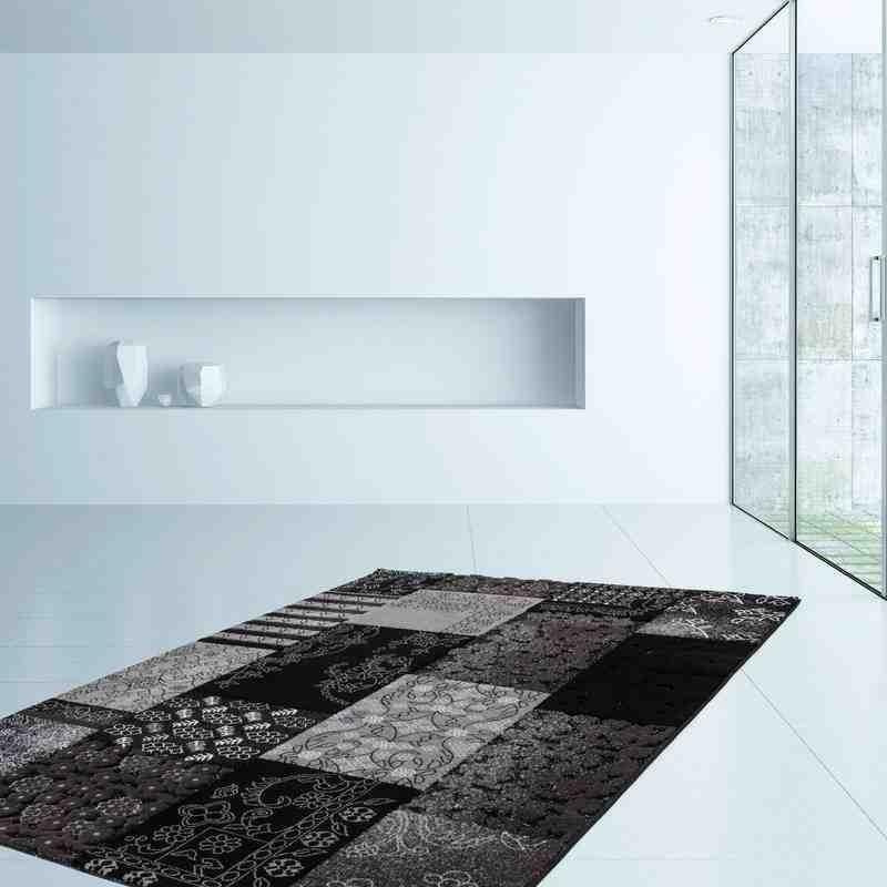 tappeto moderno patchwork turkey samsun nero