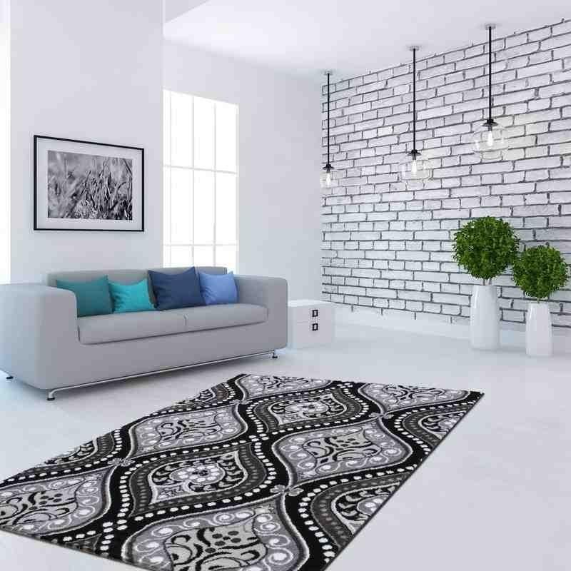tappeto moderno floreale ukraine uman nero