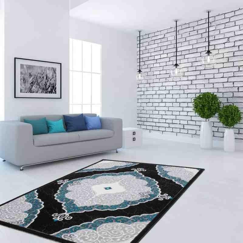 tappeto moderno floreale ukraine yalta turchese