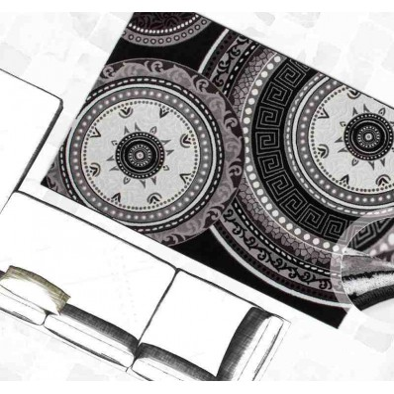 tappeto moderno classico ukraine odessa nero