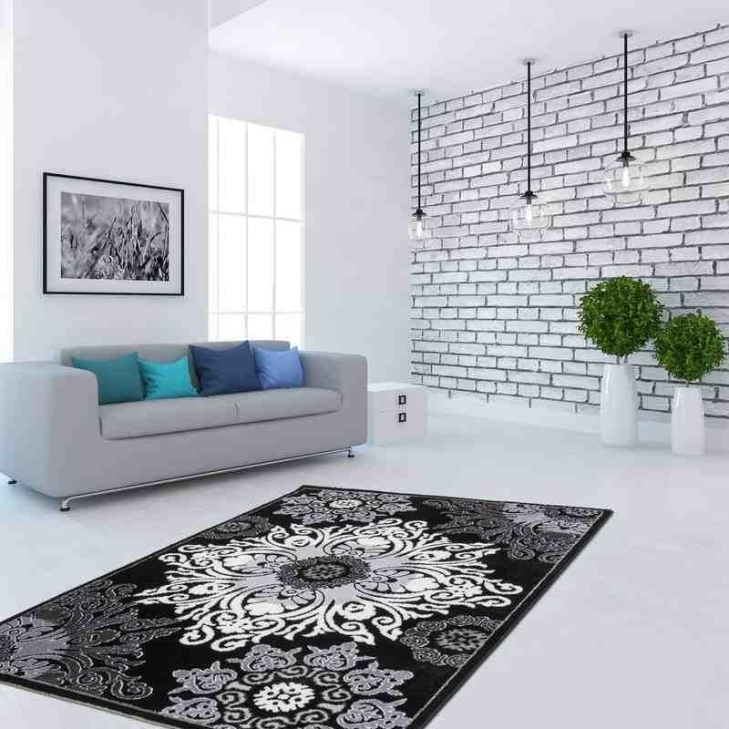 tappeto moderno floreale ukraine smila nero